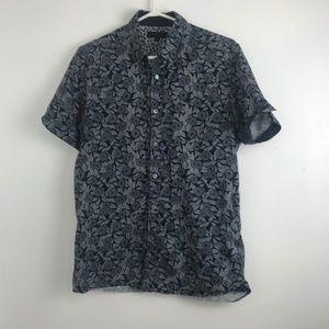 Ted Baker Men's Navy Floral Shirt